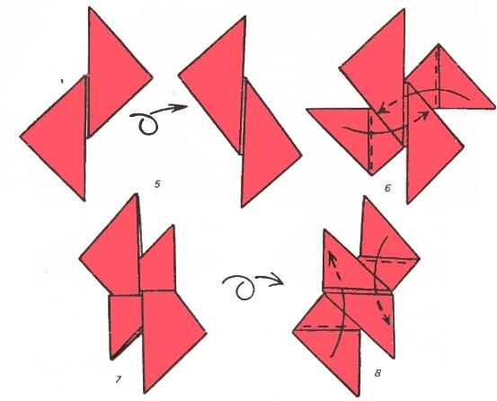 Как из бумаги сделать сюрикен своими руками из бумаги 55