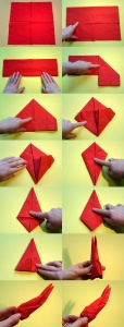 как сделать с ребенком кролика из салфетки