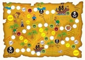 Настольная игра карта пиратов остров