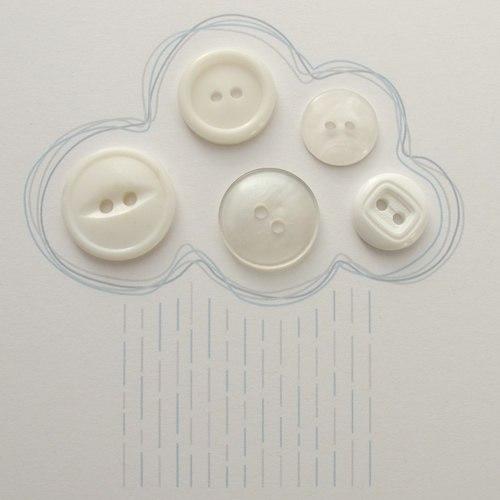 открытка облако из пуговиц рисунок 5