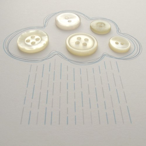 открытка облако из пуговиц рисунок 6
