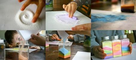 как сделать поделку из разноцветного песка