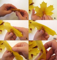 Как сделать из листьев розу фото 632