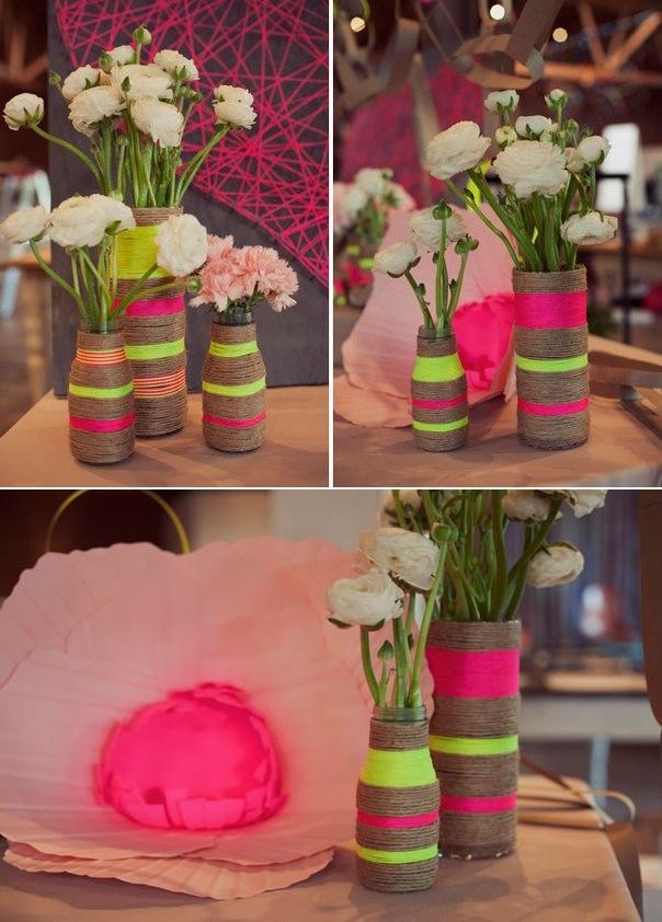 Как оформить вазу своими руками из подручных материалов 18